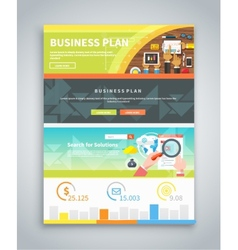 Infographic Business Brochures Banners Set vector image
