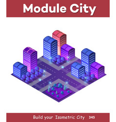 isometric ultra city concept vector image