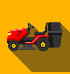 Lawn tractor icon isolated on background modern vector