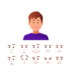 man face icon vector image