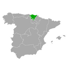 Map basque country in spain vector