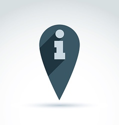 Map pointer with an info icon Place location vector