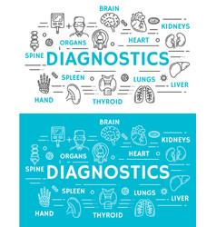 medical diagnostics banner diagnostic clinic vector image