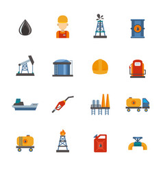 mineral oil petroleum extraction production vector image
