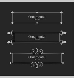 Ornamental decorative frame borders set vector