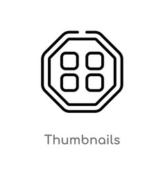 Outline thumbnails icon isolated black simple vector