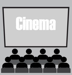 people in the cinema vector image vector image