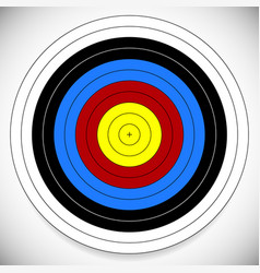 Printable archery arrow target with cross at vector