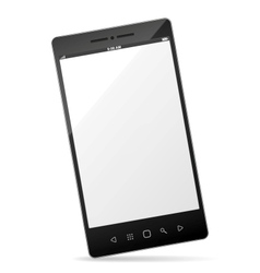 realistic smartphone with empty touchscreen vector image