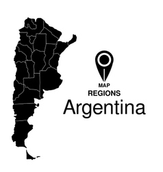Regions map of Argentina vector