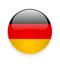 Round icon with flag of Germany vector