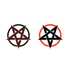 satan star pentagram symbol of satanism mystical vector image