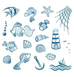 Sea fish maritime vector