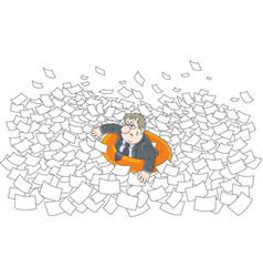 sea of paper vector image