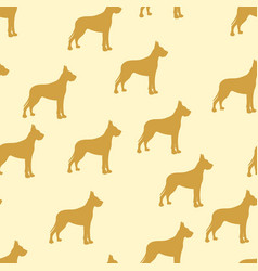 Seamless background kids dog german dog vector