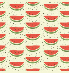 Seamless pattern of watermelons vector