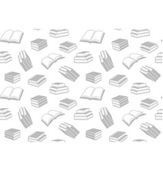 seamless pattern with open and closed books vector image