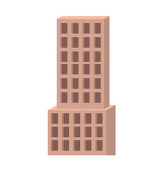skyscraper building closeup icon colorful vector image
