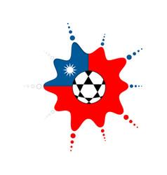 Soccer ball on a taiwanese emblem vector