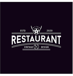 spoon fork knife with star for restaurant bar vector image