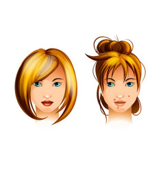 teenage girl with a pimple on her face vector image