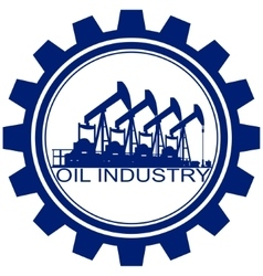 The icon with the oil pump vector