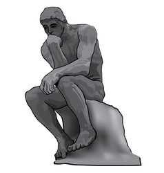 thinker man concept the statue vector image