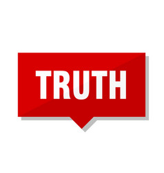 Truth red tag vector