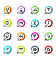 Vehicle service station icons set vector