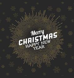 Vintage retro christmas label vector