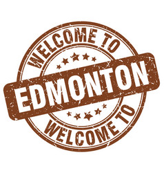 Welcome to edmonton vector