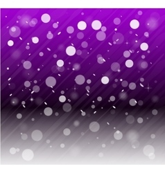 Whte snow bokeh purple background vector image