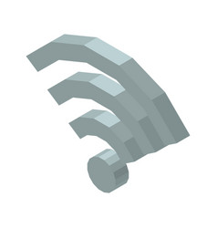 Wi-fi 3d icon isolated on vector