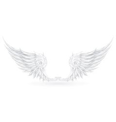 Wings white vector