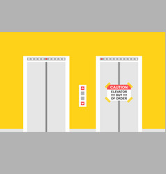Working elevator and elevator out order vector