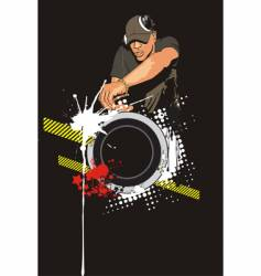 dj mixing vector image