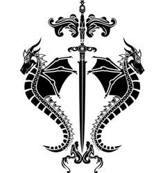 dragons sword vector image