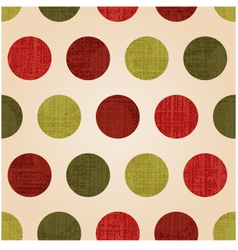 seamless polka dots with christmas colors vector image vector image
