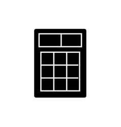simple calculator icon black vector image