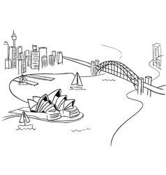 Sydney Sketch vector image vector image