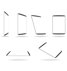 tablet computer with blank white screen vector image
