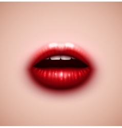 Background with lips vector image vector image