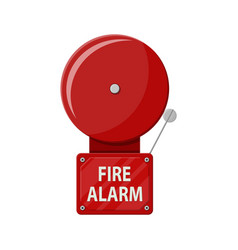 fire alarm system fire equipment vector image vector image