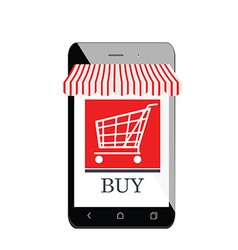 Mobile shopping icon vector image