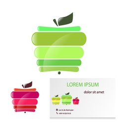 Apple card vector image vector image