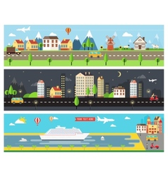 Beautiful City Landscape Banners vector image