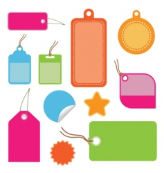 bright tags vector image