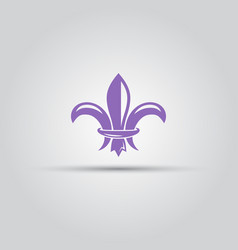 fleur-de-lis isolated colored icon vector image vector image