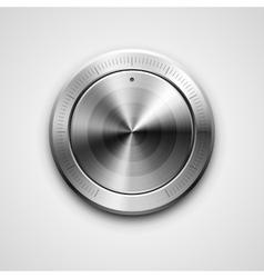 Metallic knob vector