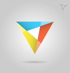 Mosaic triangle logo sign vector